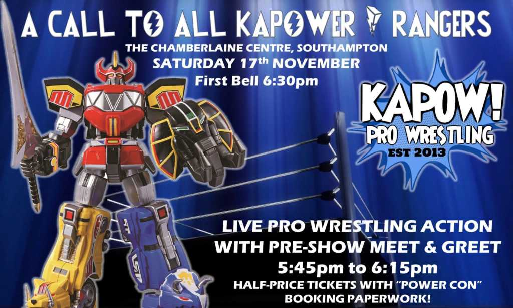 Super power con pre show meet greet kapow wrestling kapow wrestling invites these fan to become kapower rangers and join us for a special pre show meet greet event m4hsunfo